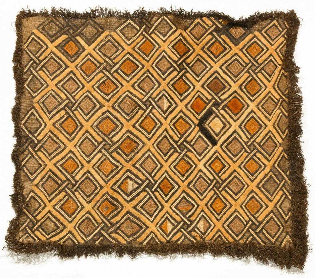 3 Kuba Raffia Embroideries, Early/Mid 20th C - 3