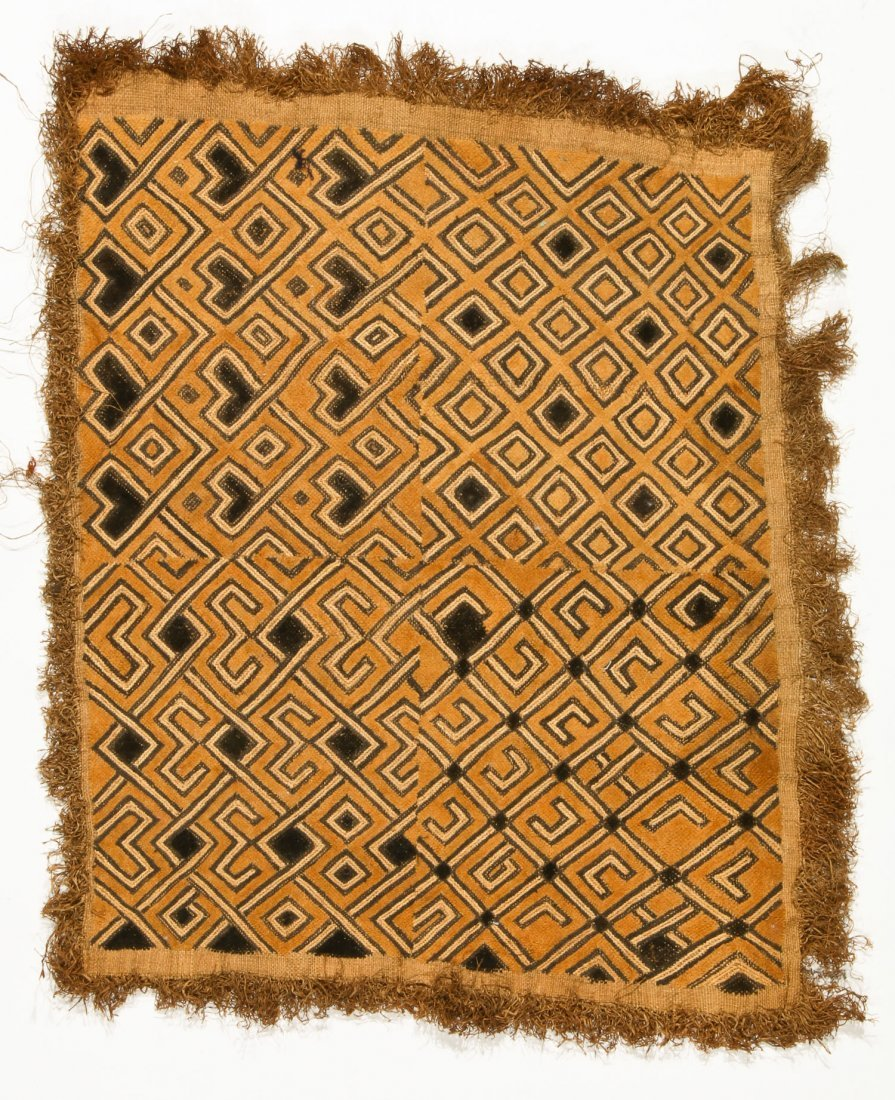 3 Kuba Raffia Embroideries, Early/Mid 20th C - 4