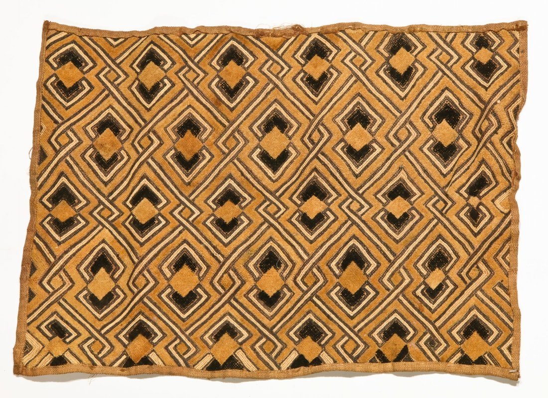 3 Kuba Raffia Embroideries, Early/Mid 20th C - 2