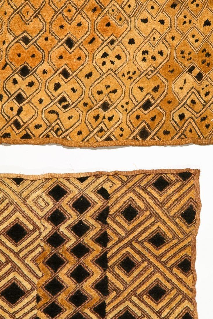 6 Kuba Raffia Embroideries, Early/Mid 20th C - 2