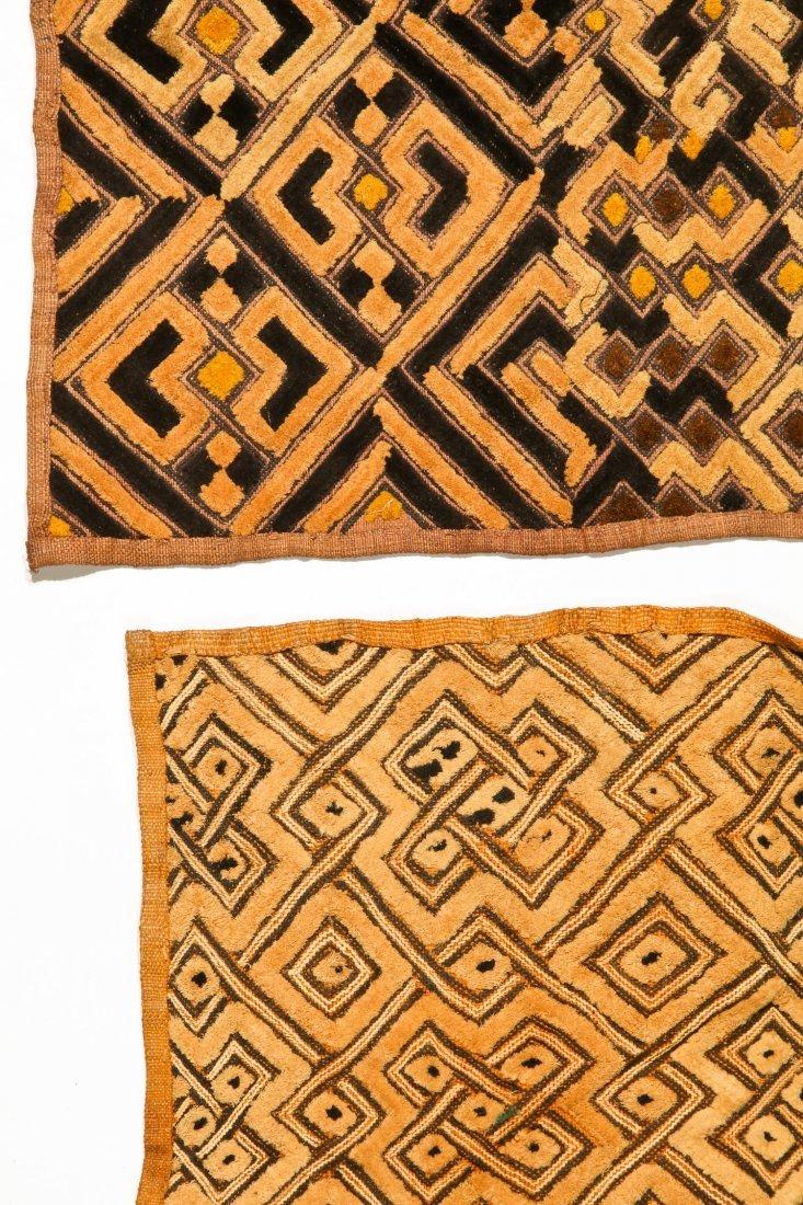 6 Kuba Raffia Embroideries, Early/Mid 20th C - 3