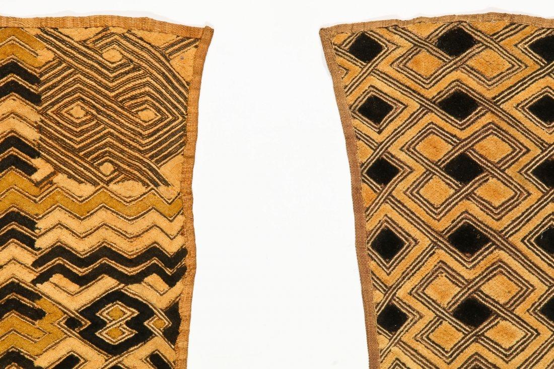 6 Kuba Raffia Embroideries, Early/Mid 20th C - 4
