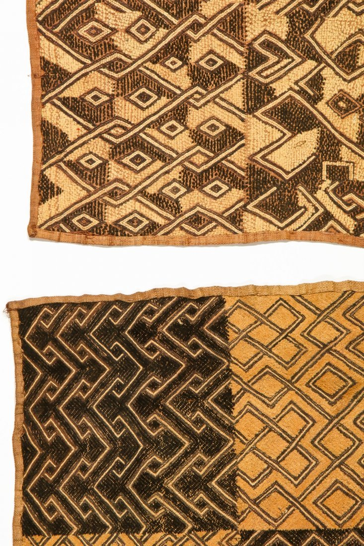 5 Kuba Raffia Embroideries, Early/Mid 20th C - 3