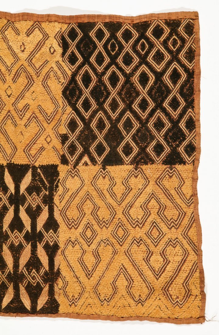 5 Kuba Raffia Embroideries, Early/Mid 20th C - 4