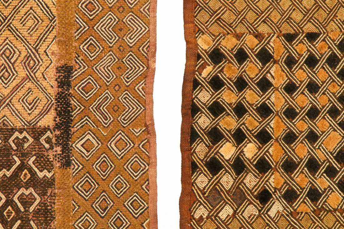 5 Kuba Raffia Embroideries, Early/Mid 20th C - 2