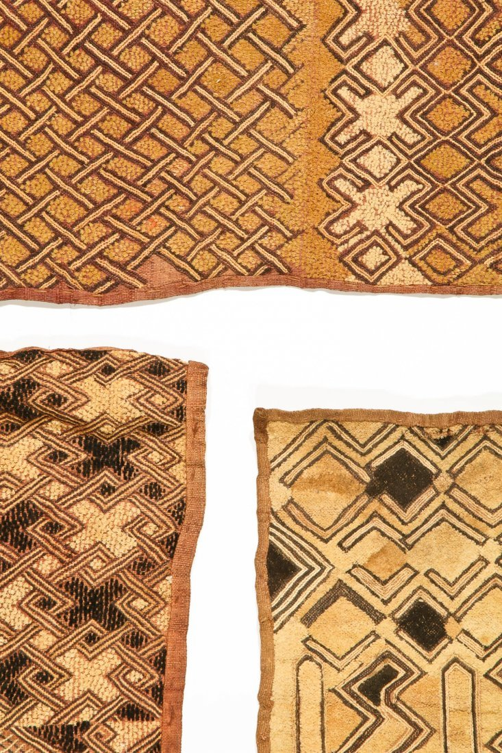 3 Kuba Raffia Embroideries, Early/Mid 20th C - 2