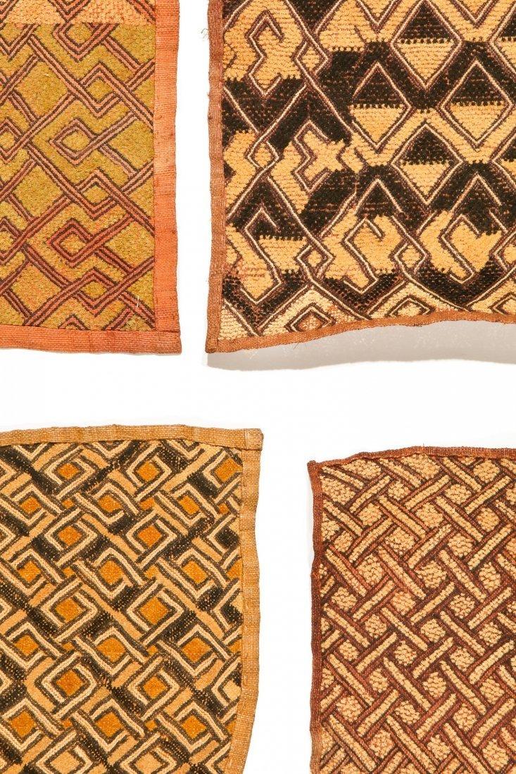 4 Kuba Raffia Embroideries, Early/Mid 20th C - 2