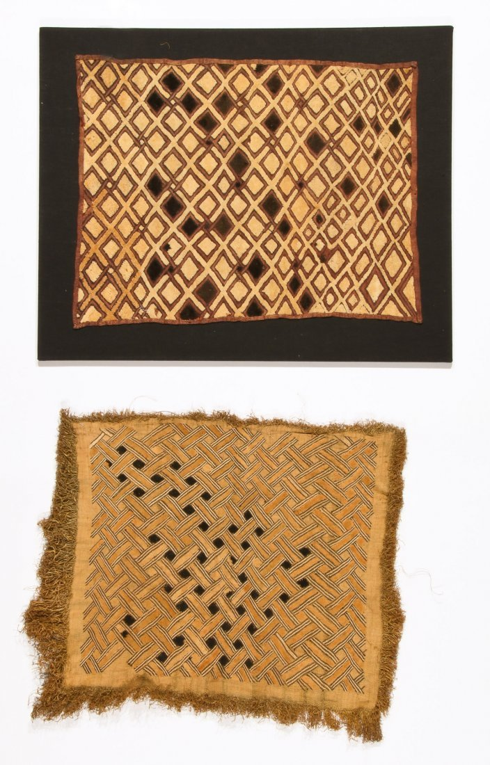 2 Kuba Raffia Embroideries, Early/Mid 20th C