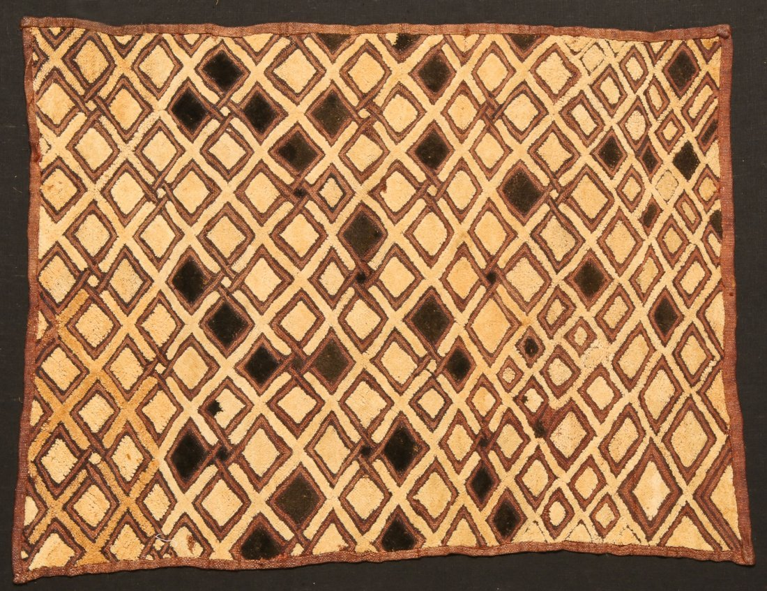 2 Kuba Raffia Embroideries, Early/Mid 20th C - 3