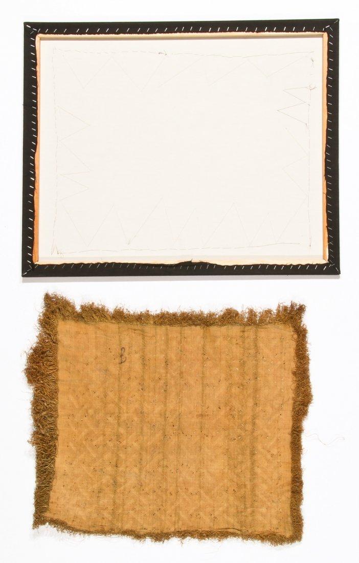 2 Kuba Raffia Embroideries, Early/Mid 20th C - 4