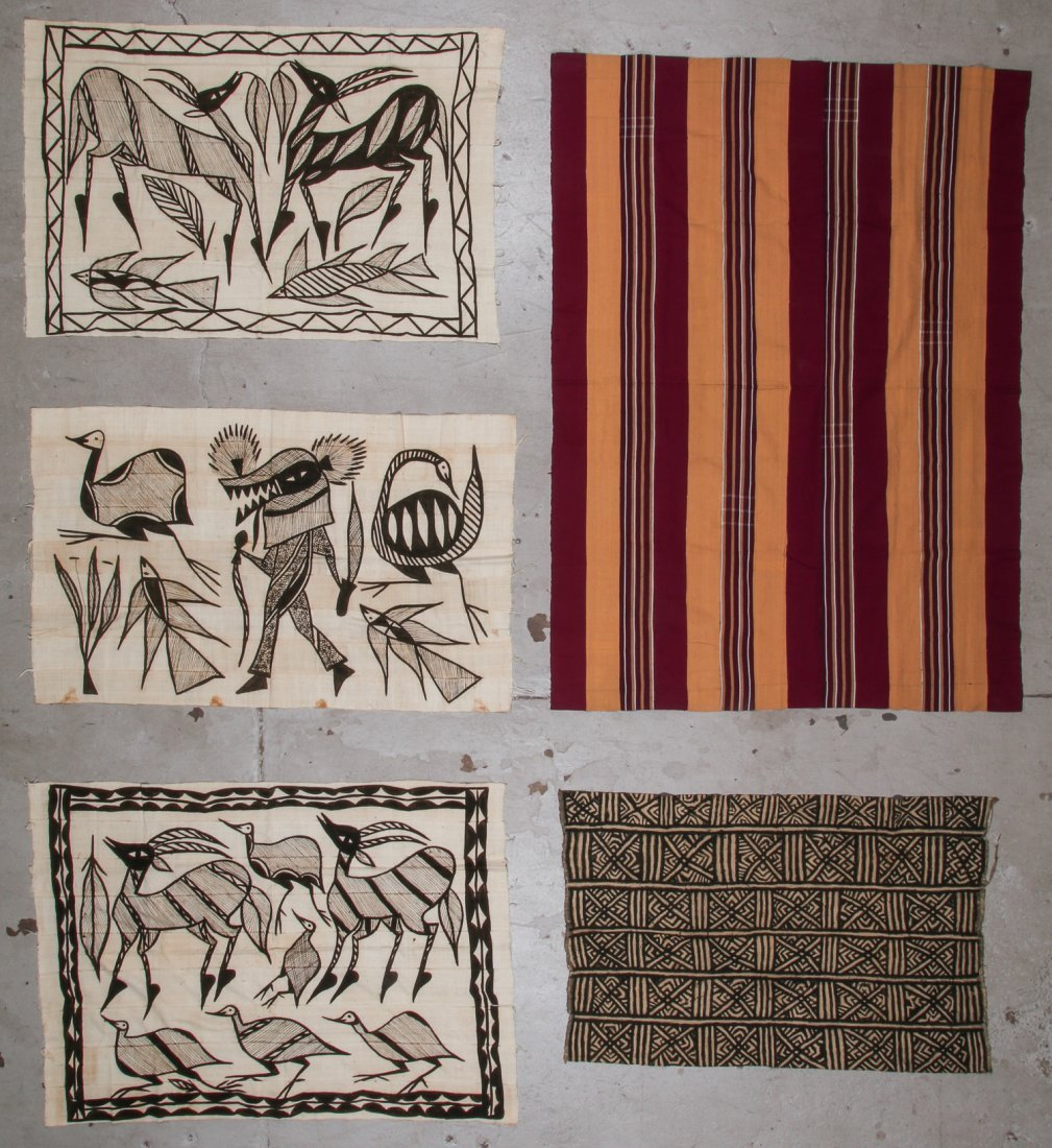 5 Vintage African Textiles