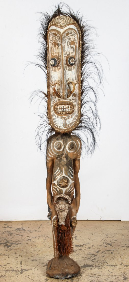 Large PNG Iatmul Ancestral Figure