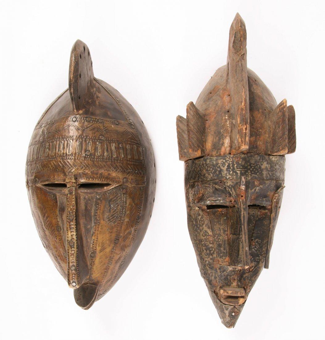 2 African Marka Masks