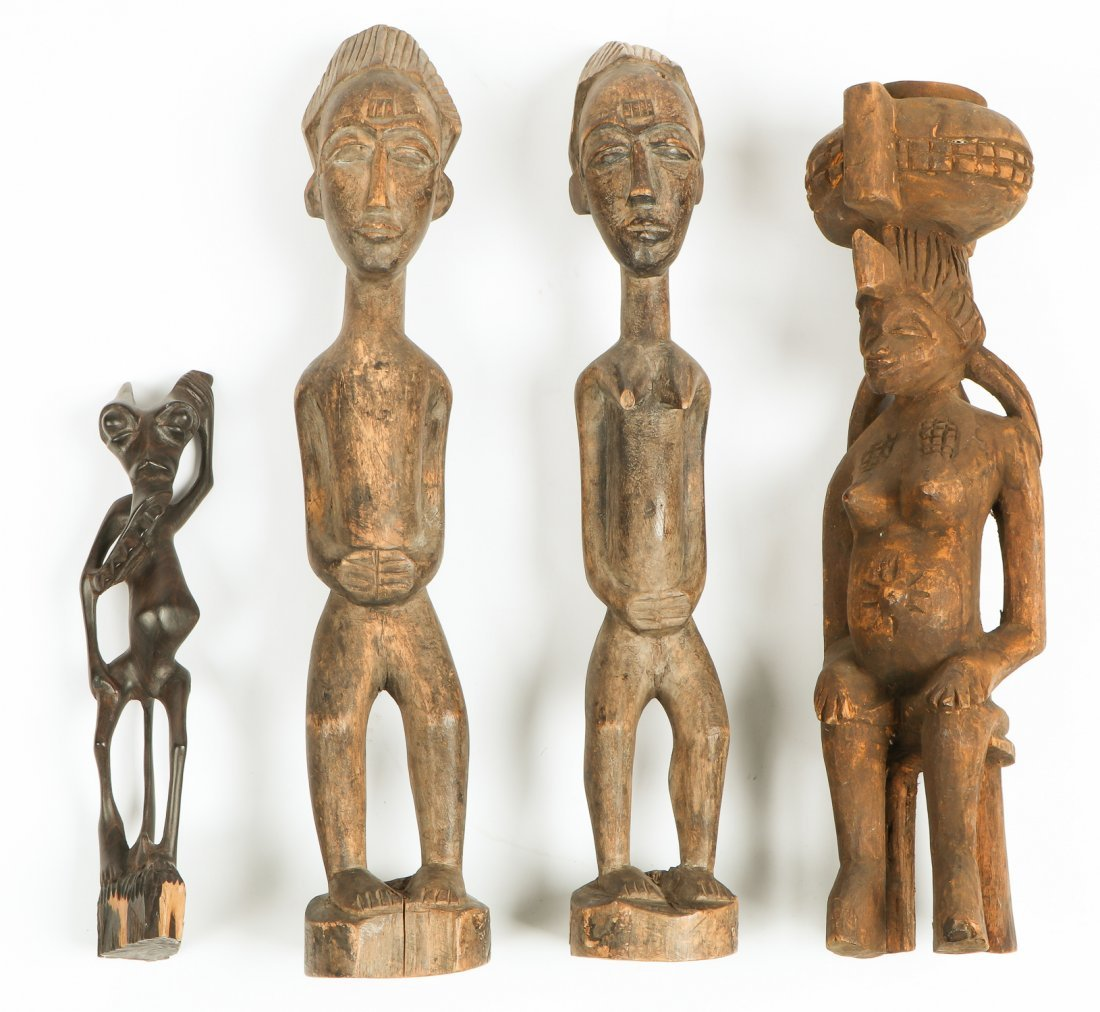 4 African Carved Figures