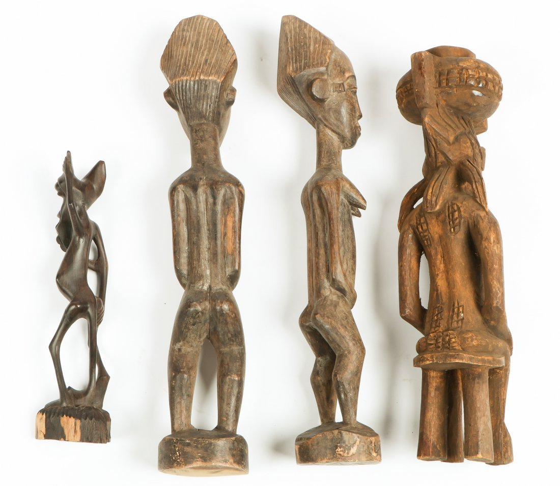 4 African Carved Figures - 2