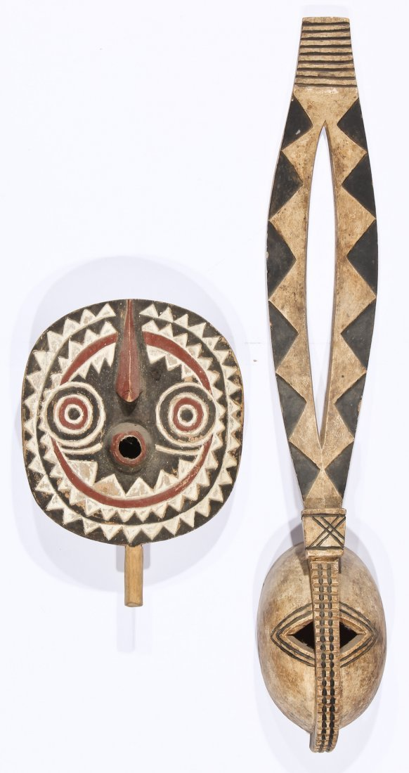 2 African Tribal Masks