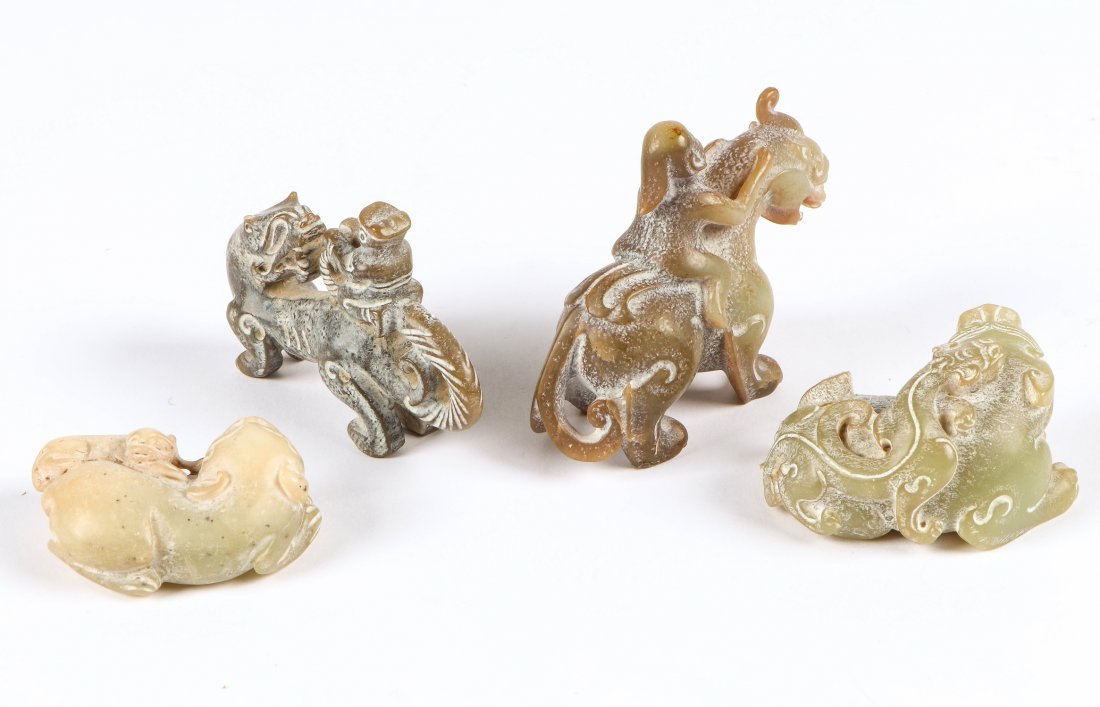 4 Chinese Archaic Jade/Hardstone Creatures - 2