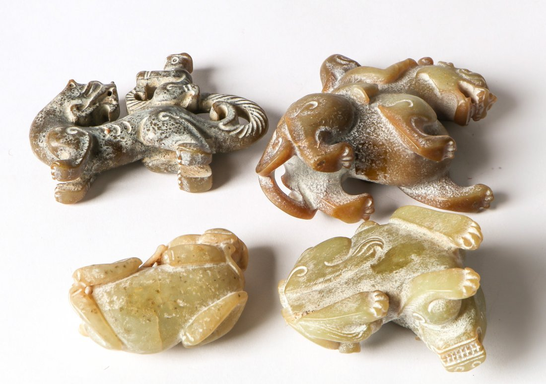4 Chinese Archaic Jade/Hardstone Creatures - 3