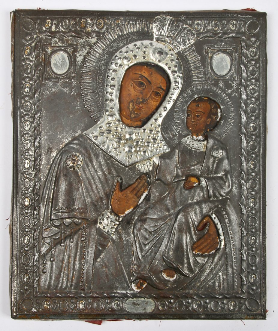 Late 19th C Russian Orthodox Icon