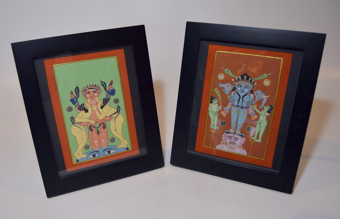 Two Fine Indian Rajput Style Paintings