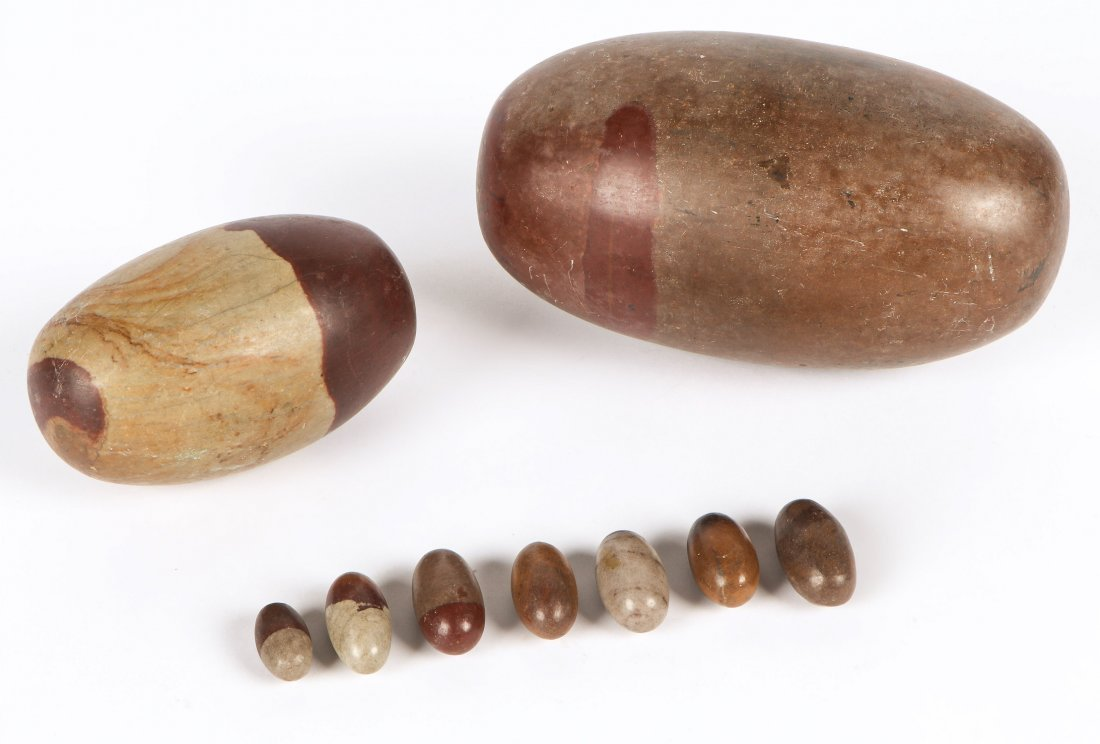 Lot of Shiva Lingam Stones