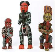 3 Bamileke Bamun Beaded Figures