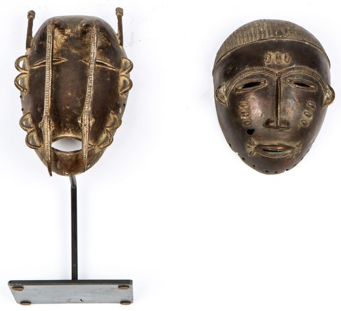 2 Bronze Ligbi Masks
