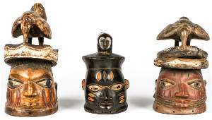 3 Yoruba Galede Masks