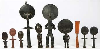 10 Ashanti Akuaba Figures
