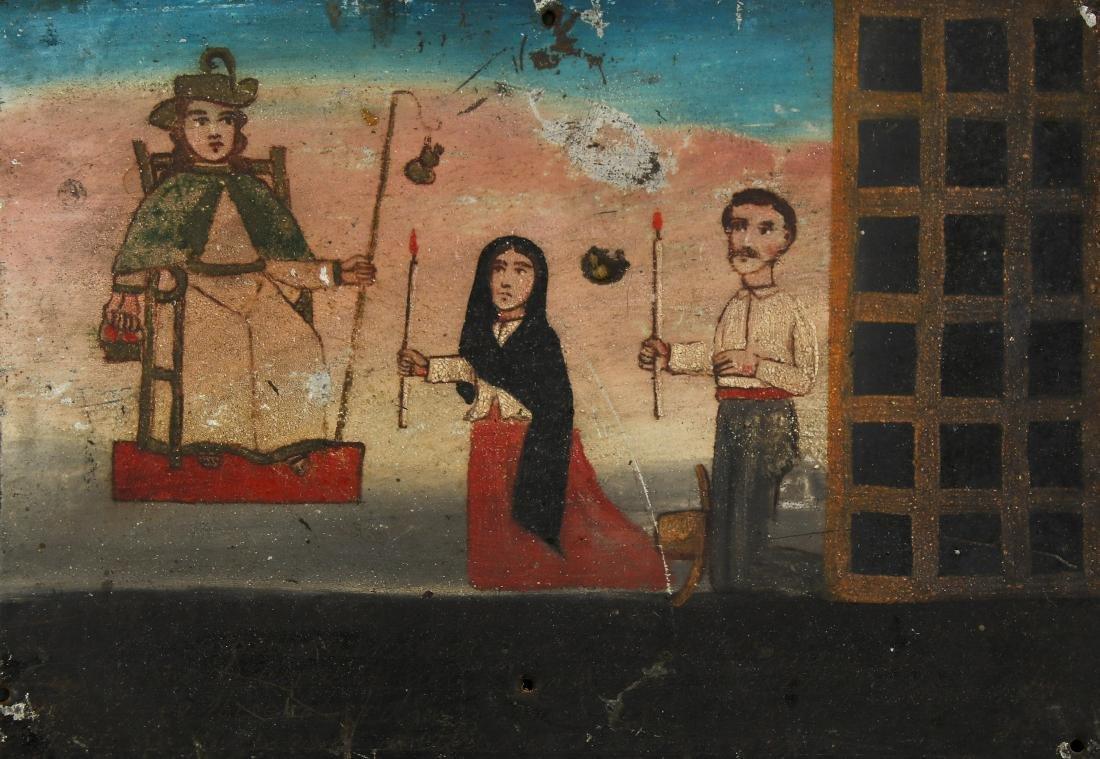 Antique Mexican Retablo Painting