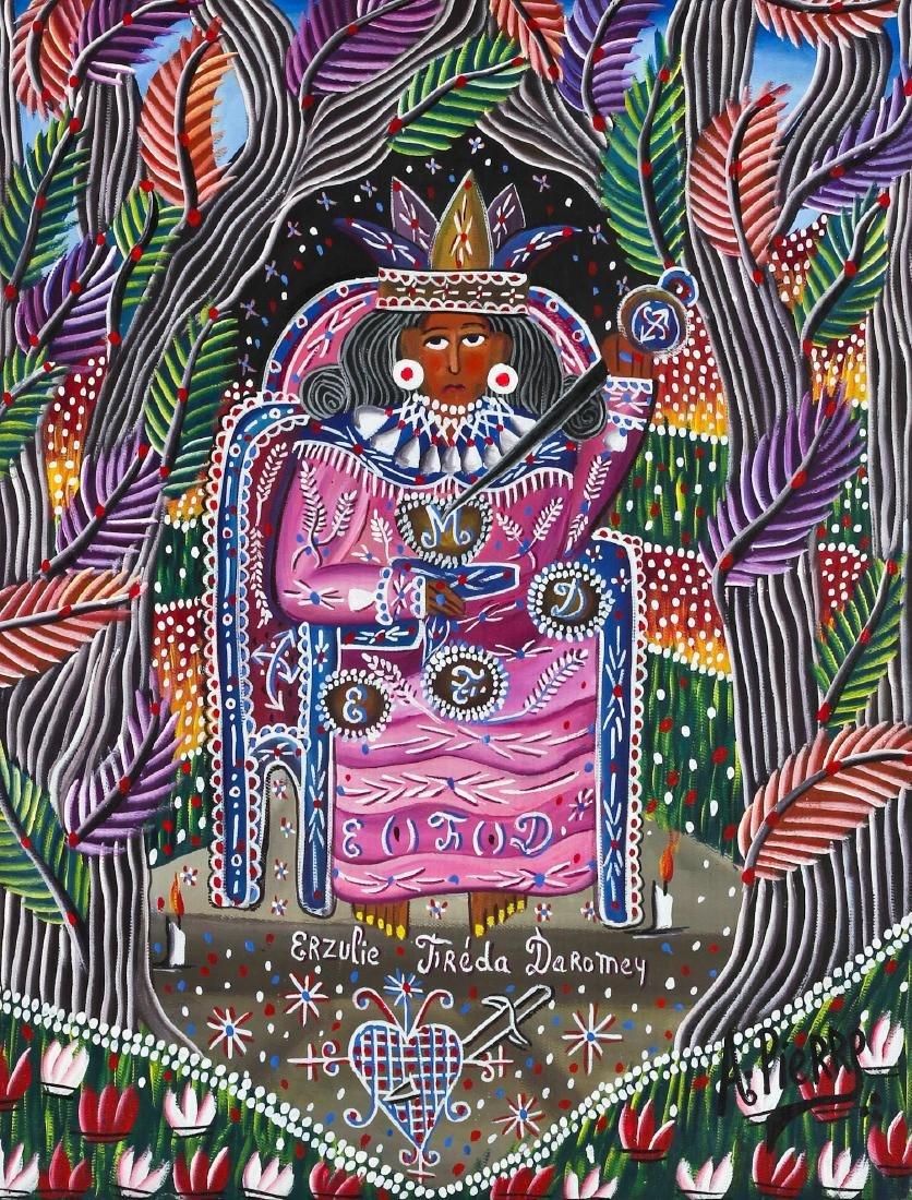 """Andre Pierre (Haitian, 1916-2005) """"Erzulie Freda"""