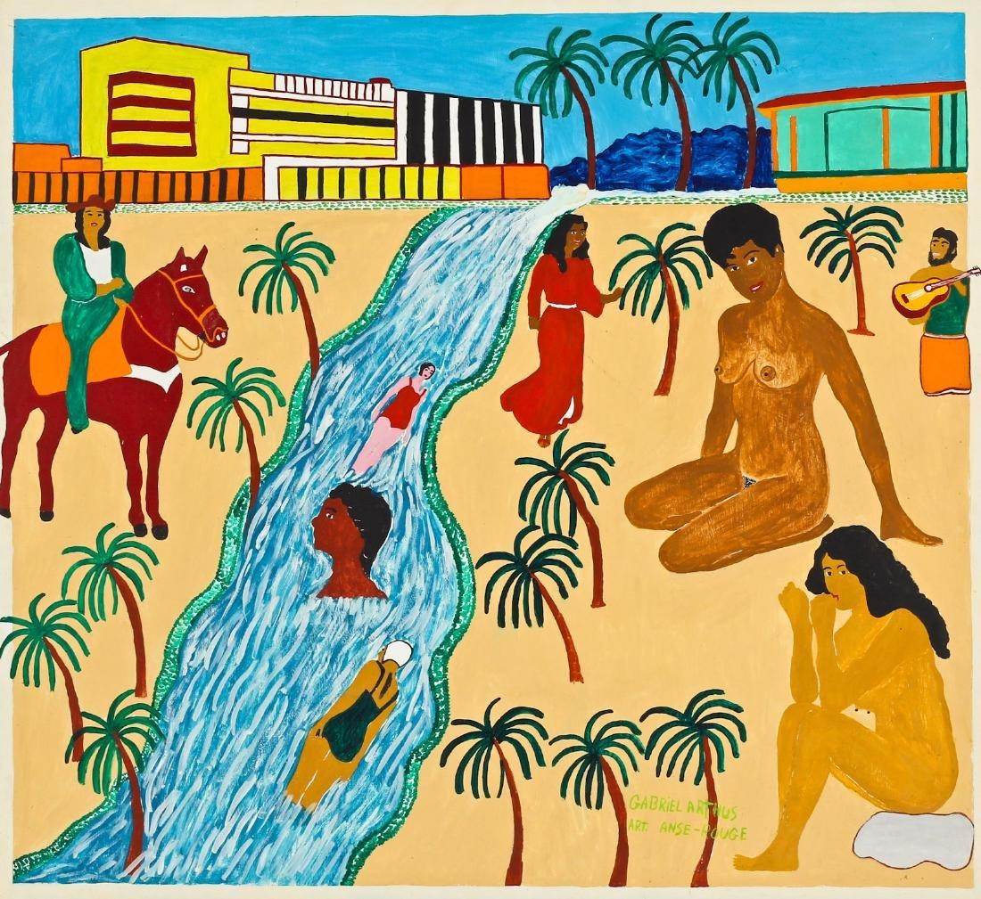 Gabriel Arthus (Haitian, 20th c.) Swimming In the River
