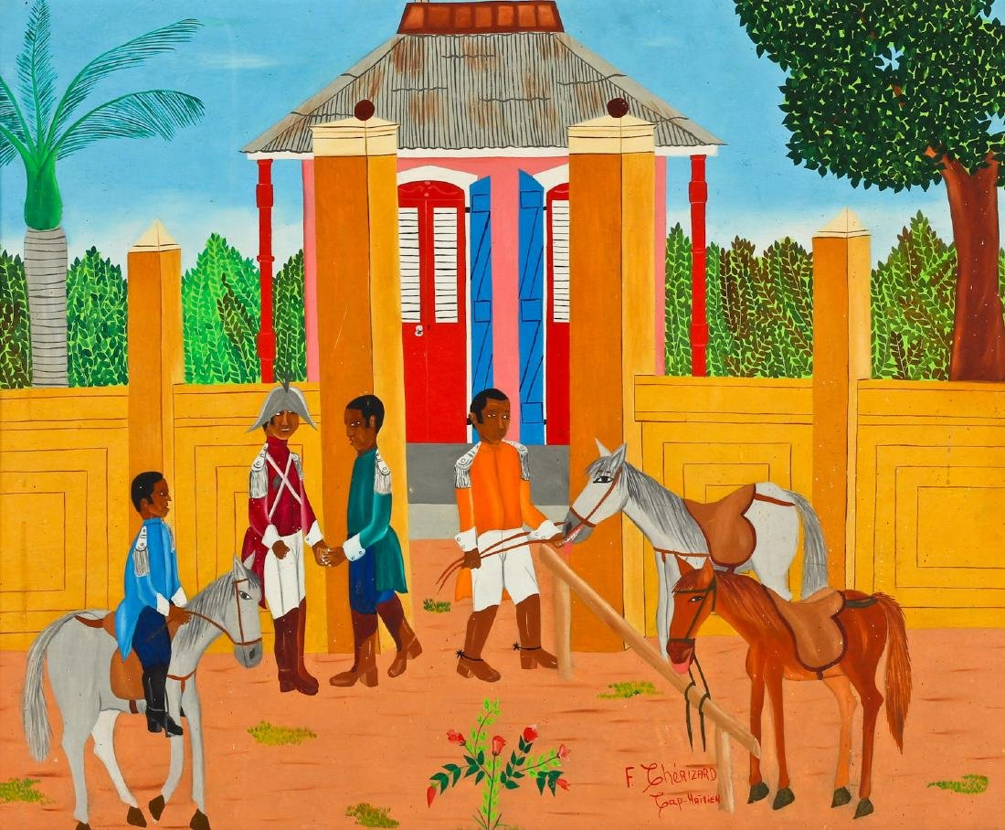 Freddy Cherizard (Haitian, 20th c.) Painting