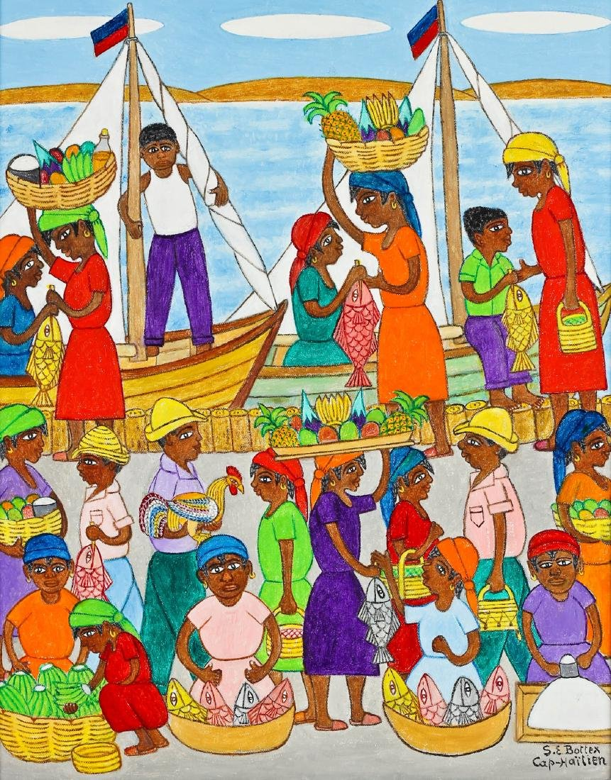 "Seymour Etienne Bottex (Haitian, 20th c.) ""Poissonerie"""