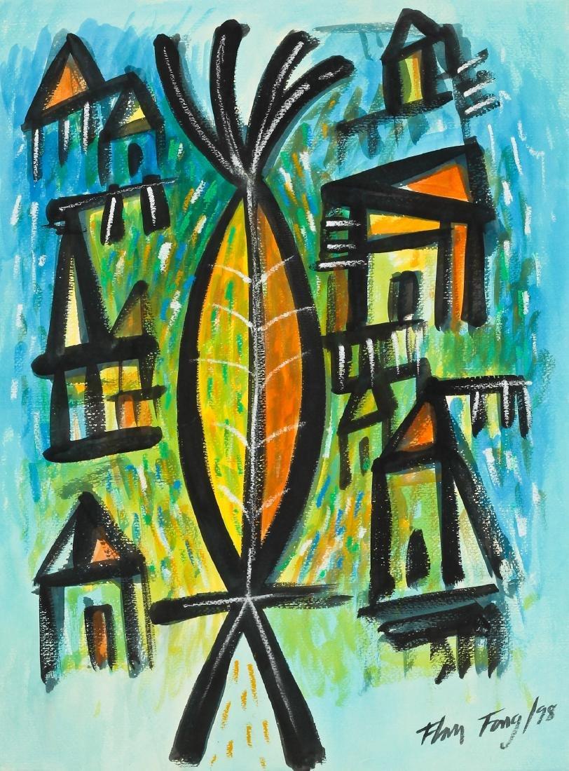 Flora Fong (Cuban, b. 1941) Painting