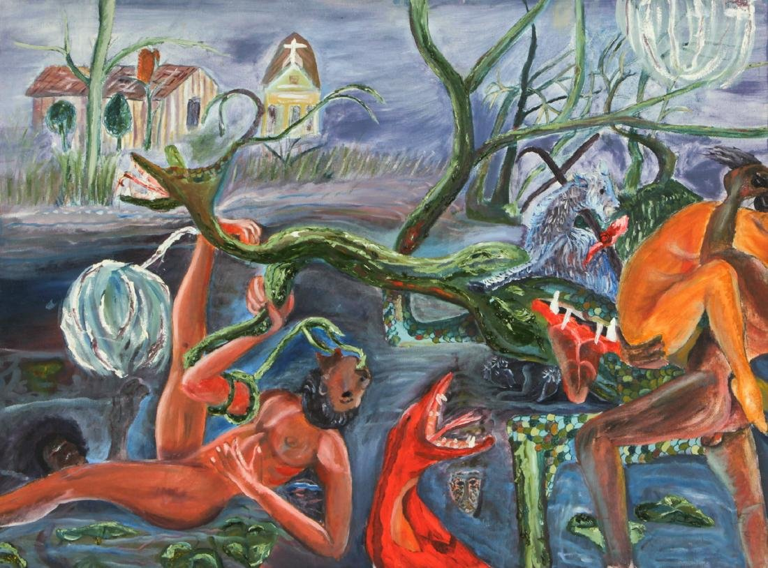"Roger Rice (b. 1958) ""John the Baptist and the Lamb"