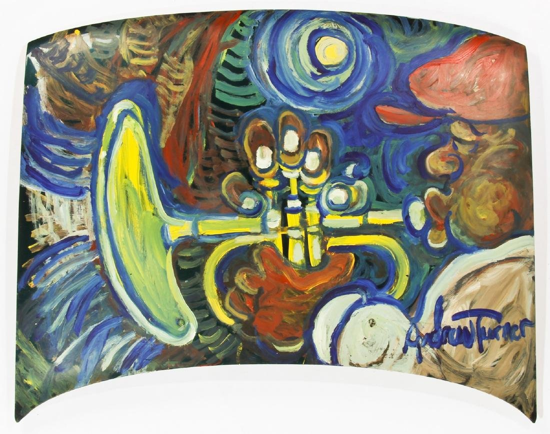 Andrew Turner (1944-2001) Trumpet Player Painting on