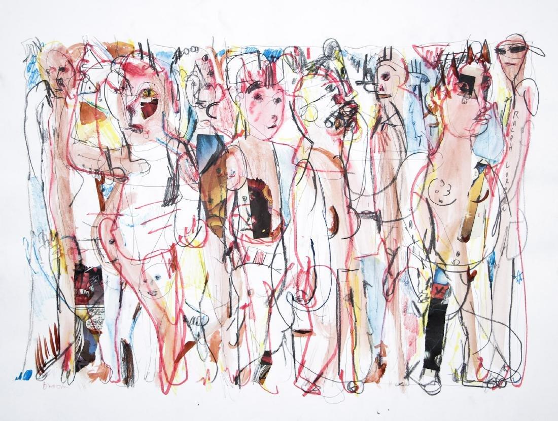 Jim Bloom (American, b. 1968) Mixed Media Drawing