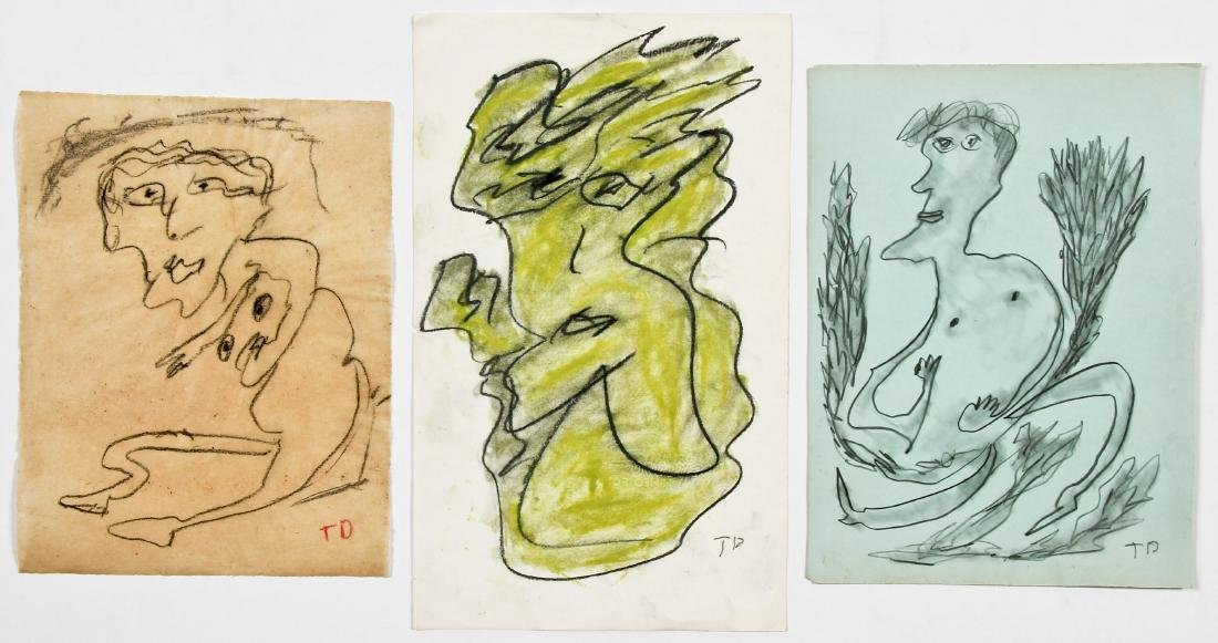 Thornton Dial (1928-2016) 3 Works on Paper