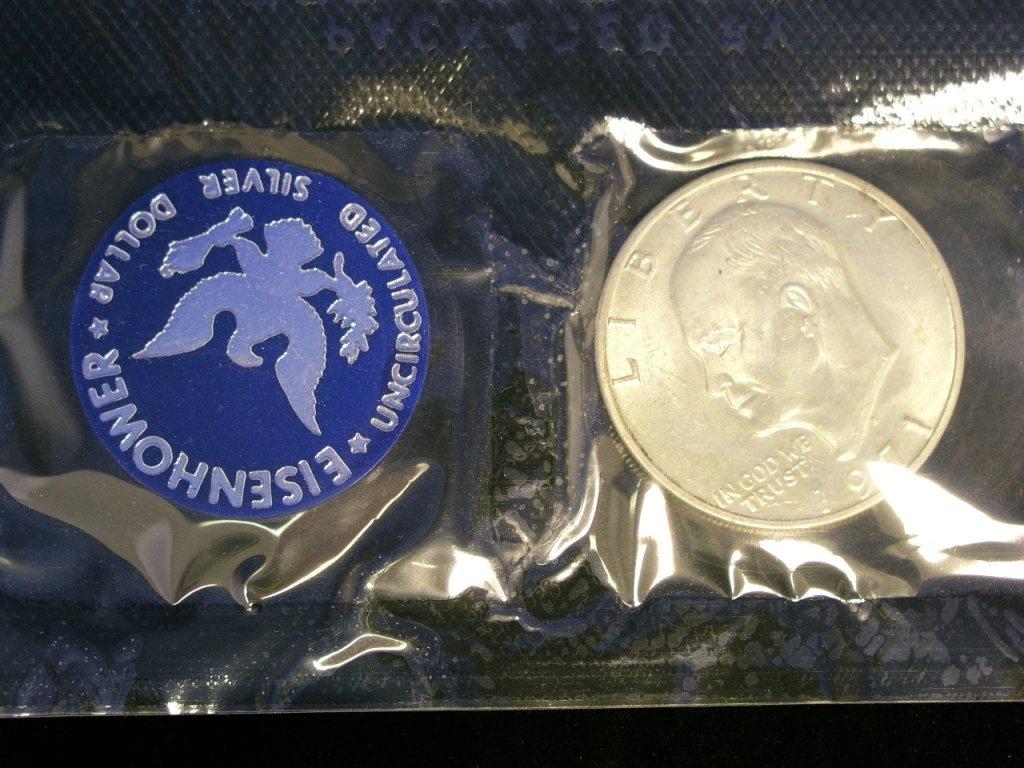 1: 1971 Eisenhower Dollar Unc. 40% Silver