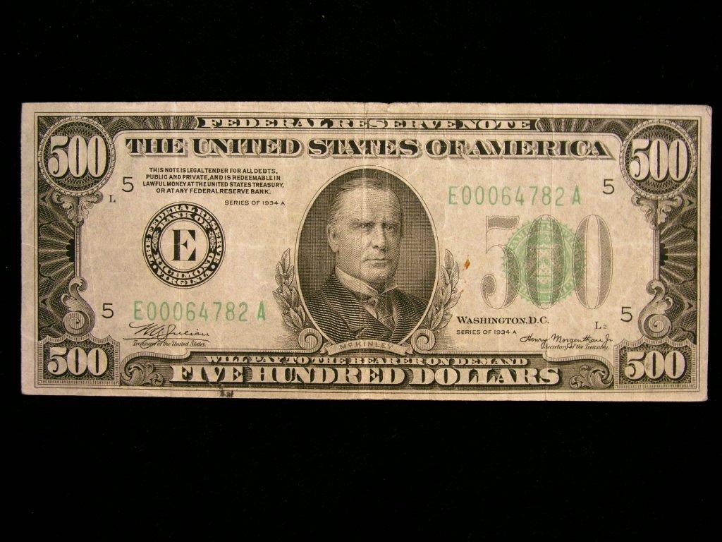 2A: $500 U.S. Note - Series 1934A