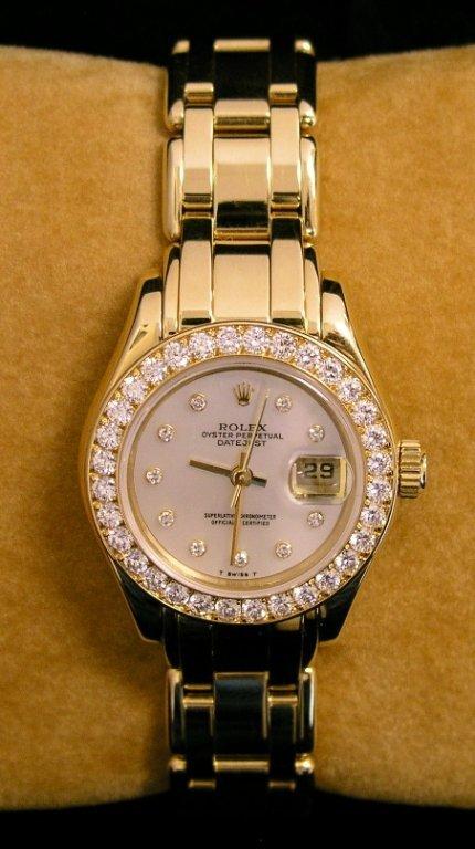 4A: Rolex Pearl Master 18k & Diamonds