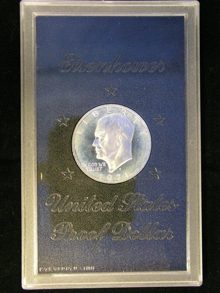 5: 1971 Eisenhower Dollar Proof 40 % Silver