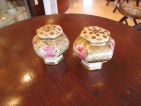 Nippon Roses Salt & Pepper Shakers