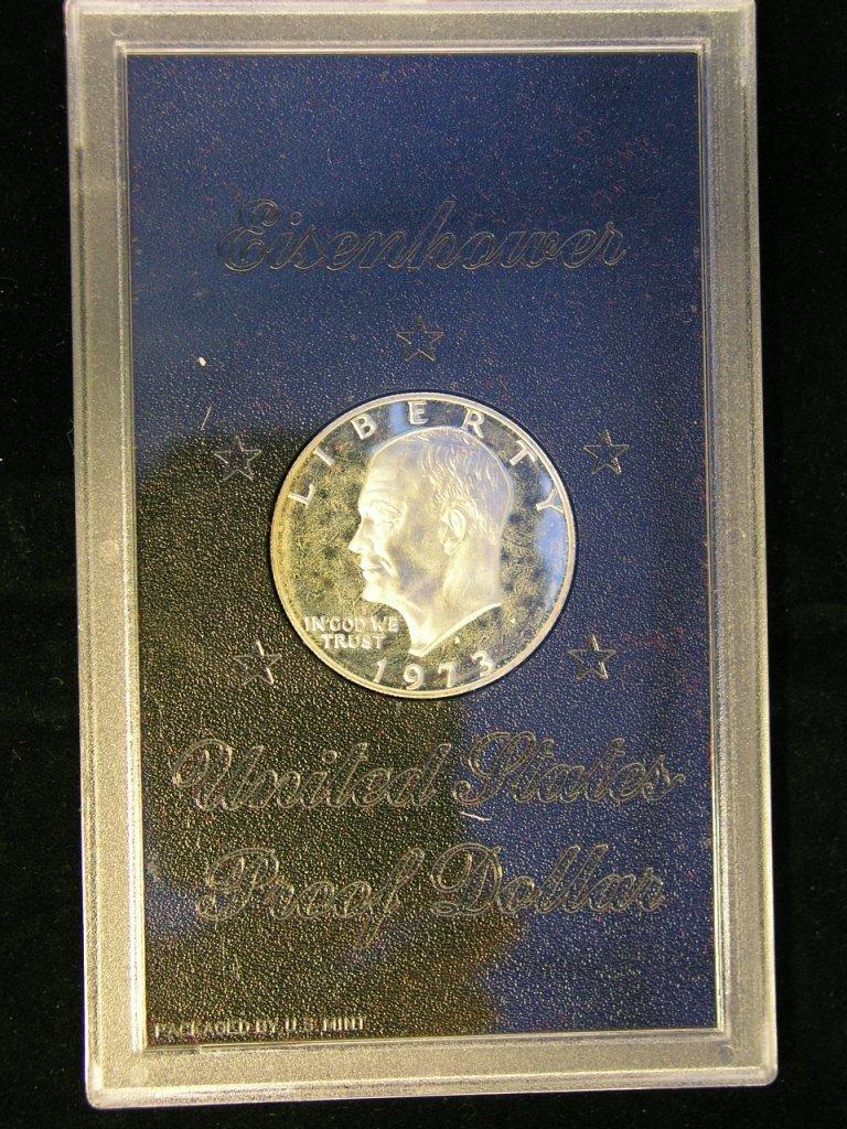 7: 1973 Eisenhower Dollar Proof 40% Silver