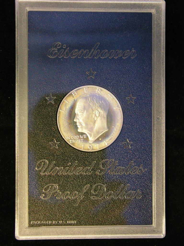 8: 1974 Eisenhower Dollar Proof 40% Silver