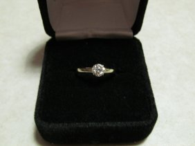 Lady's Diamond Solitaire Engagement Ring