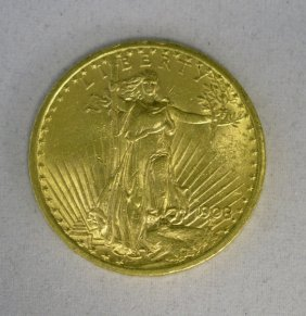 St. Gauden $20 BU 1908 CRZZ -Gold Double Eagle