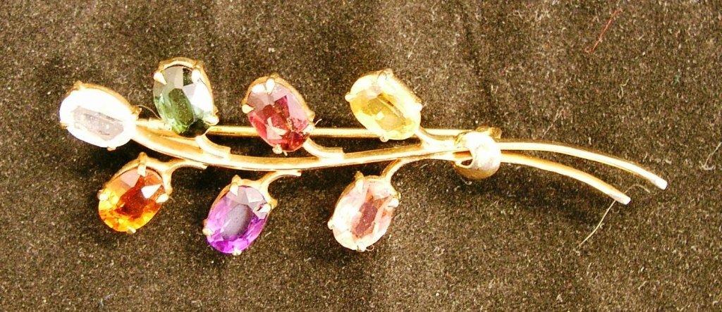 16A: Gemstone Pin 18k