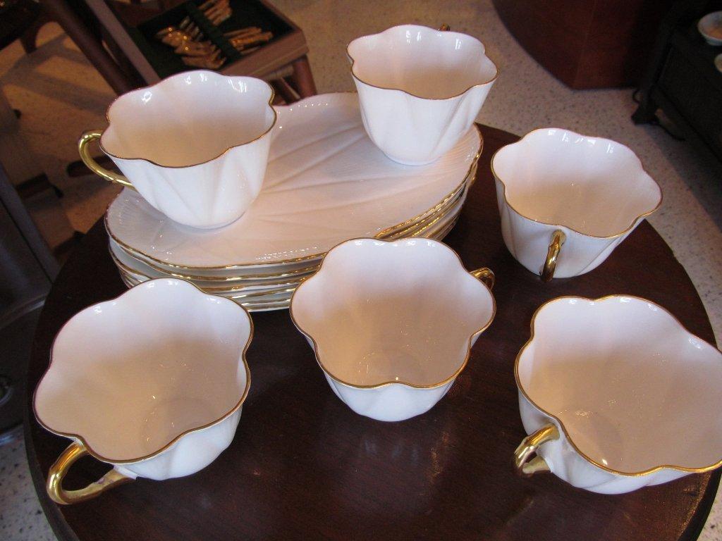 16C: Shelley Regency Dainty White Snack Set
